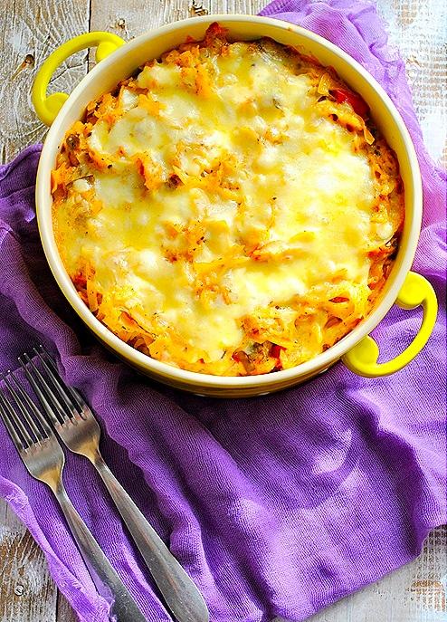 Σουφλέ ζυμαρικών με λαχανικά